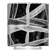Cotton Fibers Shower Curtain by Science Source