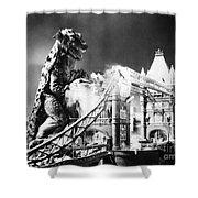 Godzilla Shower Curtain by Granger