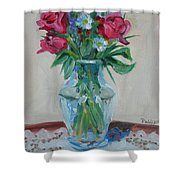 3 Roses Shower Curtain by Paul Walsh