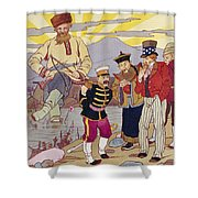Russo-japanese War, C1905 Shower Curtain by Granger