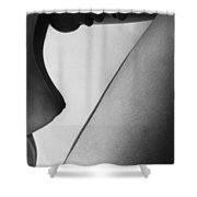 Human form abstract body part  Shower Curtain by Anonymous
