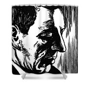 Sergei Rachmaninoff Shower Curtain by Granger