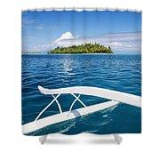 View Of Tahiti Shower Curtain by Joe Carini - Printscapes