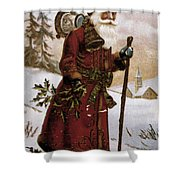American Christmas Card Shower Curtain by Granger