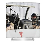 Camp Speicher, Iraq - U.s. Air Force Shower Curtain by Terry Moore