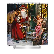 Christmas Card Shower Curtain by Granger