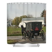Amish Buggy Shower Curtain by David Arment