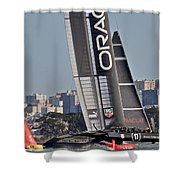 America's Cup San Francisco Shower Curtain by Steven Lapkin