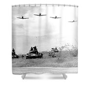 A-1h Aircraft Make A Low Level Pass Shower Curtain by Stocktrek Images