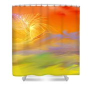 A Band Of Angels Coming After Me Shower Curtain by David Lane