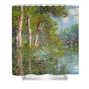 A Bend In The Eure Shower Curtain by Gustave Loiseau
