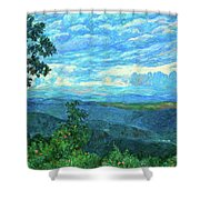 A Break In The Clouds Shower Curtain by Kendall Kessler
