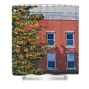 A Brick In Time Shower Curtain by Lynne Reichhart