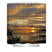 A Brooding Sunset Sky Shower Curtain by HH Photography of Florida