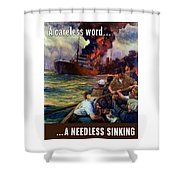 A Careless Word A Needless Sinking Shower Curtain by War Is Hell Store