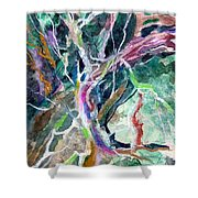 A Dying Tree Shower Curtain by Mindy Newman