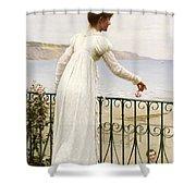 A Favour Shower Curtain by Edmund Blair Leighton