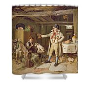 A Fine Attire Shower Curtain by Charles Hunt