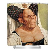 A Grotesque Old Woman Shower Curtain by Quentin Massys
