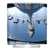A Kc-135 Stratotanker Refuels A B-52 Shower Curtain by Stocktrek Images