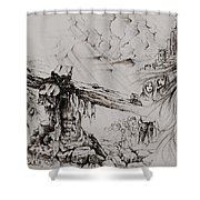 A Man Of Sorrows Shower Curtain by Rachel Christine Nowicki