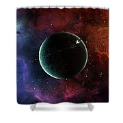 A Massive And Crowded Universe Shower Curtain by Brian Christensen