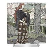 A Musician Shower Curtain by Eugene Grasset