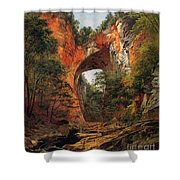 A Natural Bridge In Virginia Shower Curtain by David Johnson