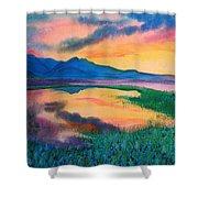 A New Beginning Shower Curtain by Ramneek Narang