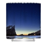A Night For Stargazing Shower Curtain by William Lee