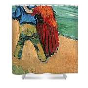 A Pair of Lovers Shower Curtain by Vincent Van Gogh