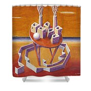 A Peasents Dream  Shower Curtain by Dimitris Milionis