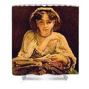 A Pensive Moment Shower Curtain by John Ballantyne