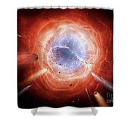 A Planetary Nebula Is Forming Shower Curtain by Brian Christensen