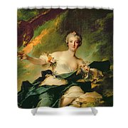 A Portrait Of Anne Josephe Bonnnier De La Mossau  Shower Curtain by Jean Marc Nattier