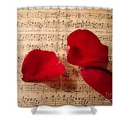 A Romantic Note Shower Curtain by Kathy Bucari