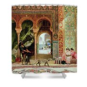A Royal Palace In Morocco Shower Curtain by Benjamin Jean Joseph Constant