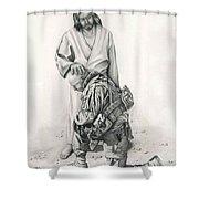 A Soldier's Prayer Shower Curtain by Linda Bissett