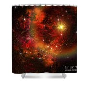 A Star Explodes Sending Out Shock Waves Shower Curtain by Corey Ford