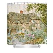 A Surrey Cottage Shower Curtain by Arthur Claude Strachan