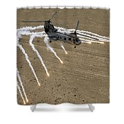 A U.s. Marine Corps Ch-46 Sea Knight Shower Curtain by Stocktrek Images