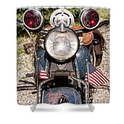 A Very Old Indian Harley-davidson Shower Curtain by James BO  Insogna
