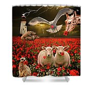 A Very Strange Dream Shower Curtain by Meirion Matthias