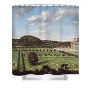 A View Of Bayhall - Pembury Shower Curtain by Jan Siberechts