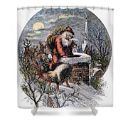 A Visit From St Nicholas Shower Curtain by Granger