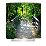 A Walk in the Park Shower Curtain by Carol Groenen