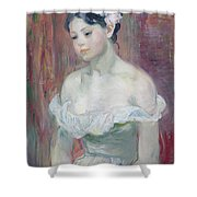 A Young Girl Shower Curtain by Berthe Morisot