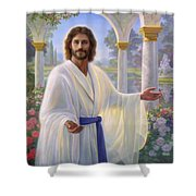 Abide With Me Shower Curtain by Greg Olsen