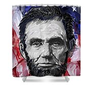 Abraham Lincoln - 16th U S President Shower Curtain by Daniel Hagerman