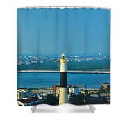 Absecon Lighthouse Atlantic City Shower Curtain by Bill Cannon